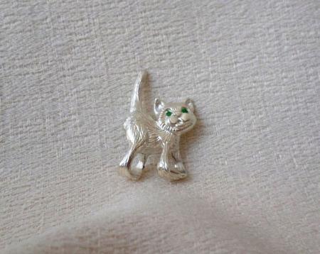 """Серебряная подвеска """"Висящий кот"""" ручной работы на заказ"""