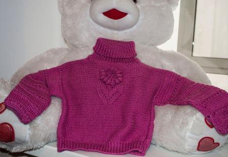 """Детский свитер """"Африканский цветок"""" ручной работы на заказ"""
