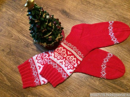 """Носочки """"Новогодние"""" ручной работы на заказ"""