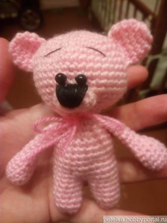 Мишутка - розовое чудо ручной работы на заказ