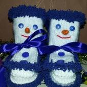 Пинетки-снеговички
