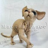 МК по вязанию кота породы Сфинкс