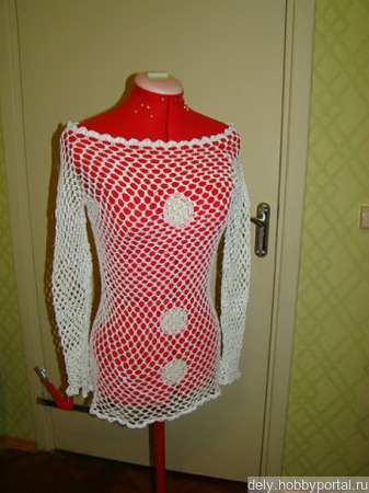 Пляжное платье - туника ручной работы на заказ