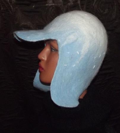 Валяная шапка-трансформер 2 в 1 ручной работы на заказ