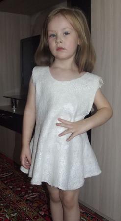 Валяное платье для девочки ручной работы на заказ