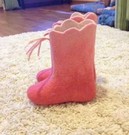 Валяная обувь домашняя детская ручной работы на заказ
