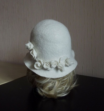 "Валяная шляпка ""Белоснежка"" ручной работы на заказ"