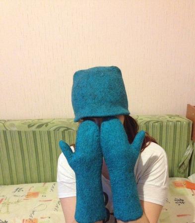 Валяная шапочка ручной работы на заказ