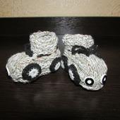 Пинетки детские Машинка + носочки в подарок