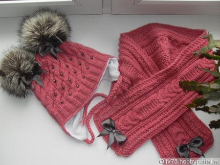 Шапка, шарф ручной работы на заказ