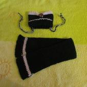 Комплект для собаки шапка + шарф