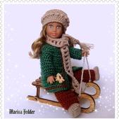 Зимний комплект для куклы.