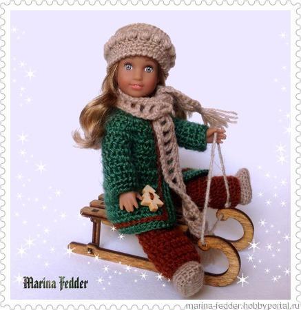 Зимний комплект для куклы. ручной работы на заказ