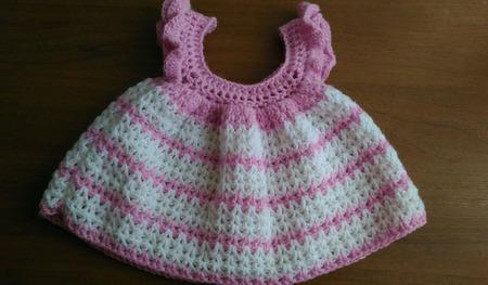 Вязаный сарафан для малышки 3-6 месяцев ручной работы на заказ