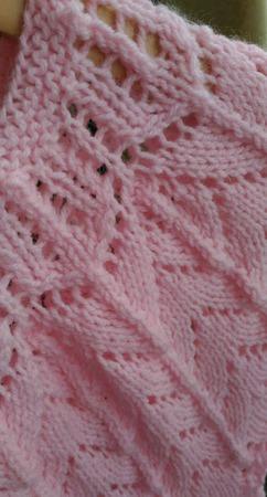 Розовое вязаное платье для девочки ручной работы на заказ