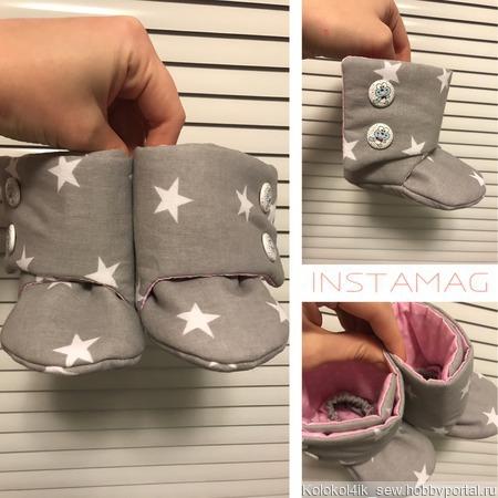 Теплые ботиночки ручной работы на заказ