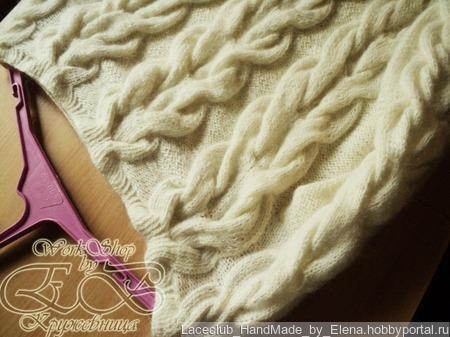 Джемпер аранами (косами) ручной работы на заказ