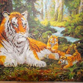 "Картина ""Семейство тигров"""