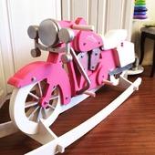 Мотик-качалка (ex-лошадка-качалка) Harley Davidson. Розовая пантера.