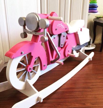 Мотик-качалка (ex-лошадка-качалка) Harley Davidson. Розовая пантера. ручной работы на заказ