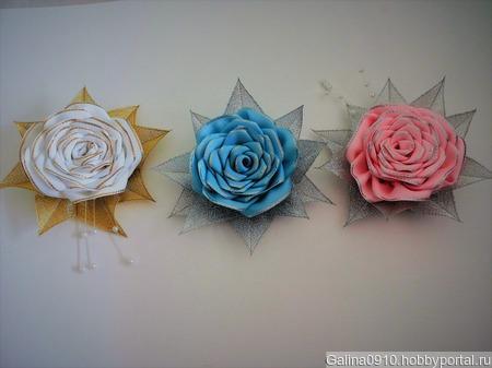 Роза из репсовых лент ручной работы на заказ