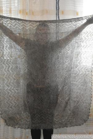 Ажурный пуховый платок ручной работы ручной работы на заказ