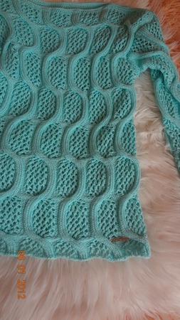 """Пуловер из хлопка  """"Царскосельские узоры"""" ручной работы на заказ"""