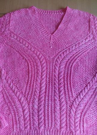 """Пуловер """"Розовое чудо"""" ручной работы на заказ"""