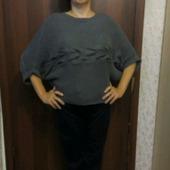 Пуловер с поперечной косой