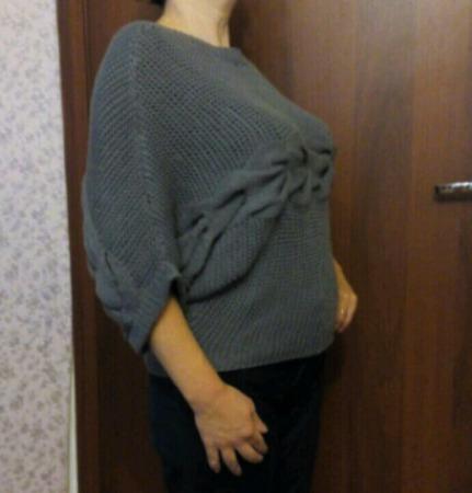 Пуловер с поперечной косой ручной работы на заказ