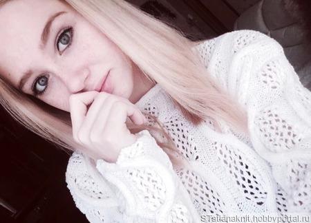 """Пуловер из хлопка """"Снежный дворец"""" ручной работы на заказ"""