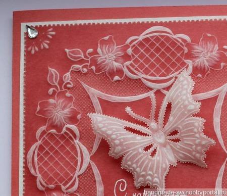 Открытка с бабочкой ручной работы на заказ