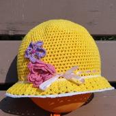 """Шляпка для девочки """"Весенние цветы"""""""