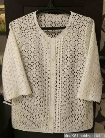 Женская блуза крючком ручной работы на заказ