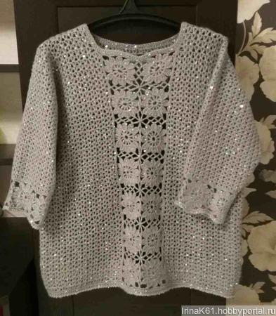 """Пуловер """"Праздничный"""" ручной работы на заказ"""