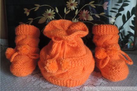"""Комплект для новорожденного """"Оранж"""" ручной работы на заказ"""