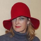 Шляпка женская валяная
