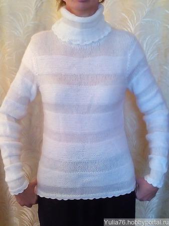 Мохеровый свитер ручной работы на заказ