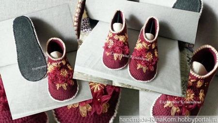 """Тапочки """"Царские черевички"""" ручной работы на заказ"""