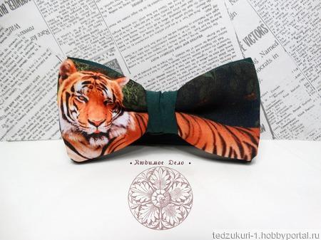 "Галстук бабочка ""Тигр"" ручной работы на заказ"