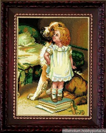 Девочка и собака ручной работы на заказ