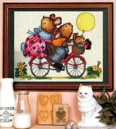 Мишки на велосипеде ручной работы на заказ