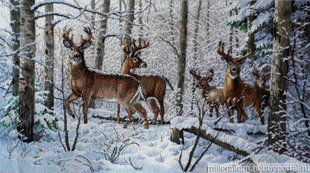 Зимний лес ручной работы на заказ