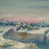 "Картина ""Зимнее безмолвие"""