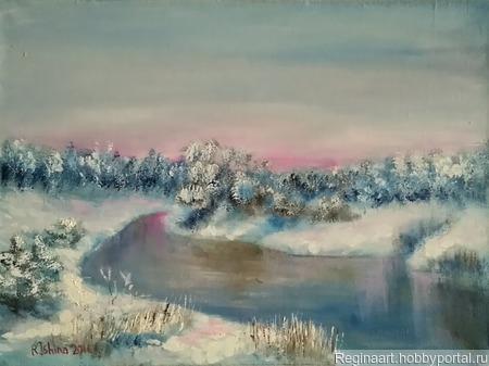 """Картина """"Зимнее безмолвие"""" ручной работы на заказ"""
