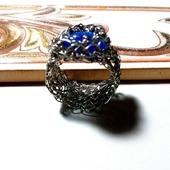 Ажурное кольцо из медной проволоки
