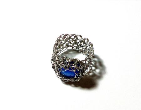 Ажурное кольцо из медной проволоки ручной работы на заказ