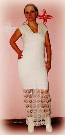 Платье белое ручной работы на заказ