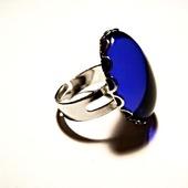 Кольцо с чешским стеклом