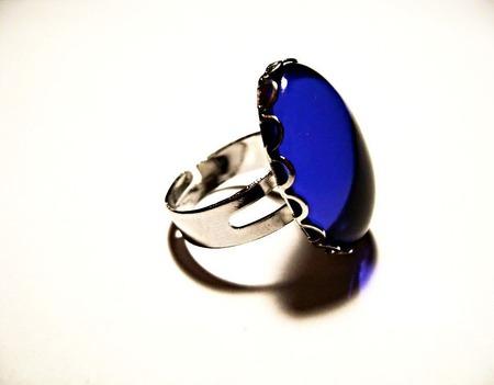 Кольцо с чешским стеклом ручной работы на заказ